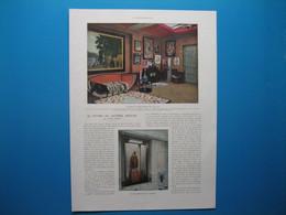 (1930) Dans Le Studio De JACQUES DOUCET, Célèbre Couturier, Collectionneur Et Mécène (1853-1929) - Document De 4 Pages - Meubels