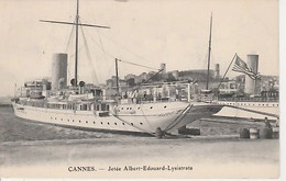 CANNES   ( 06 )  JETÉE  ALBERT    EDOUARD   -   LYSISTRATA  CPA  - ( 20 / 9 / 400 ) - Cannes