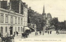 PARIS (XVIIe) Boulevard Des Batignolles Et L'Ecole Normale Recto Verso - Arrondissement: 17