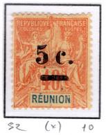 Ex Colonie Française  *  La Réunion  *  Poste  52 N(*) - Reunion Island (1852-1975)