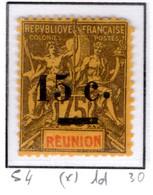 Ex Colonie Française  *  La Réunion  *  Poste  54   N(*) - Reunion Island (1852-1975)