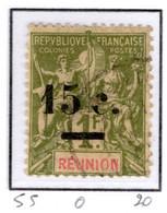 Ex Colonie Française  *  La Réunion  *  Poste  55   N* - Reunion Island (1852-1975)