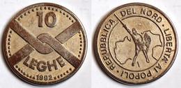 MED 164- MEDAGLIA 10 LEGHE 1992 - LIBERTA AI POPOLI REPUBBLICA DEL NORD - Diam. Mm: 35 - Italy