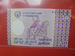 Tadjikistan 50 Dirams 1999 Peu Circuler (B.20) - Tajikistan