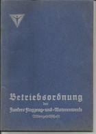 Junker Flugzeug Avion Airplane Betriebsordnung - Manuali