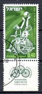 ISRAËL. N°370 De 1968 Oblitéré. Basket Pour Handicapés. - Handisport