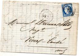 Nord - LAC Affr N° 60A Obl à L'arrivée C 17 Condé-sur-l'Escaut (au Départ Tàd Type 17 Gare De Valenciennes) - 1849-1876: Periodo Clásico