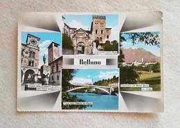 Cartolina Illustrata Belluno - Vedute Diverse, Viaggiata Per Agrigento 1962 - Belluno