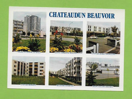 CPM  CHATEAUDUN BEAUVOIR. Multivues. - Chateaudun