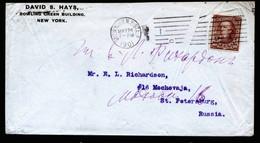A6803) US Schwerer Brief V. New York 24.05.1901 N. St. Petersburg / Russia M. EF 10 Cent Braun - Vereinigte Staaten