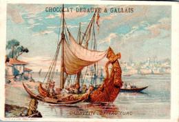 Vers 1890 Caravelle - Bateau Turc (publicité Chocolat Debauvé Gallais , éclair) - Sonstige