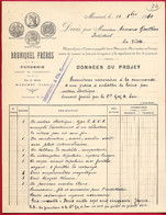 1910 Devis Pour Presse à Emballer La Laine BRUNIQUEL FRERES (& Fils) Fonderie 81 MAZAMET Tarn - 1900 – 1949