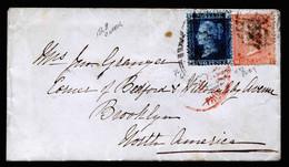 A6805) UK Grossbritannien - Brief 1868 M. Mi.17 Und 24 (Platte 9) Nach Brooklyn / USA - Briefe U. Dokumente