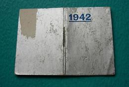 Petit Calendrier Agenda Livret 1942 - Kalender