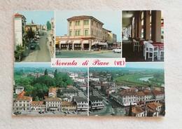 Cartolina Illustrata Noventa Di Piave - Vedute Diverse, Viaggiata Per Belricetto 1990 - Otras Ciudades