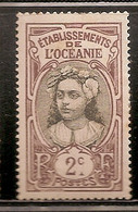 ETABLISSEMENT DE L OCEANIE OBLITERE - Oceanía (1892-1958)