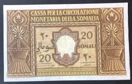 20 SOMALI AMMINISTRAZIONE ITALIANA MONETARIA DELLA SOMALIA AFIS 1950 INSERRA QSPL LOTTO.3004 - [ 1] …-1946 : Reino