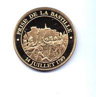 PIECE DOREE A L'OR FIN 24 CARATS - PRISE DE LA BASTILLE - France