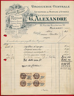 1931 FACTURE Illustrée Droguerie Centrale G. ALEXANDRE, Peinture & Vitrerie 81 MAZAMET Tarn - Drogisterij & Parfum