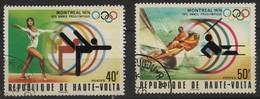 JO76/E41 - HAUTE-VOLTA 2 Val. Obl. Jeux Olympiques 1976 - Upper Volta (1958-1984)