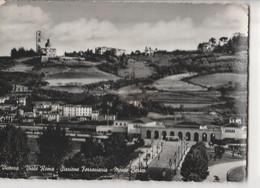 VICENZA VIALE ROMA E STAZIONE FERROVIARIA MONTE BERICO Panorama Viaggiata--1955-fP-mt-7160 - Vicenza