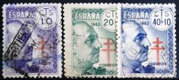 ESPAGNE                      N° 705/707                      OBLITERE - 1931-50 Gebraucht