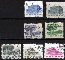 China Chine Buildings 1961 1, 2, 3, 4, 5, 8, 10 Renmi Perfect State - 1949 - ... Volksrepublik
