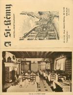 77 MEAUX A St Saint Remy Hôtel-Restaurant Dépliant Cartonné 2 X 9 X 14 Cm - Pubblicitari