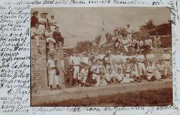 Zürich, Foto-AK Mit Einer Gruppe Männer, Absenderangabe: Alte Beckenhofstr. 55 Zürich, 1908 Nach London Versandt - ZH Zurich