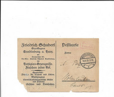Karte Aus Quedlinburg Nach Hohenleuben 1923 - Deutschland