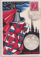 LUXEMBOURG - Carte-Maximum Numérotée Maximum Card 1946 Retour De Cendres De Jean L'Aveugle Blason Chevalier Armoiries - Tarjetas Máxima