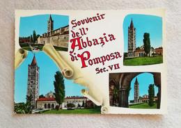 Cartolina Illustrata Souvenir Dell'Abbazia Di Pomposa Sec. VII, Non Viaggiata - Italy