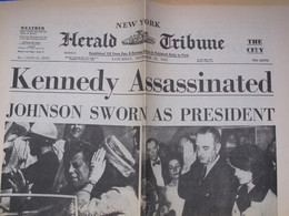 TH - Edition Du HERALD TRIBUNE De New York Du 23.11.1963, Assassinat KENNEDY - V024 - News/ Current Affairs