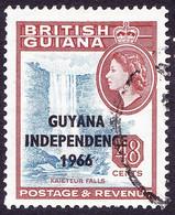GUYANA 1966 QEII 48c Bright Ultramarine & Venetian-Red WM Sideways SG405 Fine Used - Guyana (1966-...)