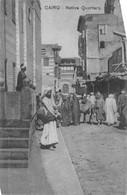 CAIRO - NATIVE QUARTERS ~ AN OLD POSTCARD #94694 - El Cairo