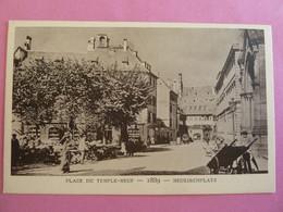 STRASBOURG PLACE DU TEMPLE NEUF 1889 - Strasbourg