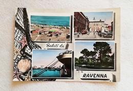 Cartolina Illustrata Saluti Da Ravenna - Vedute Diverse, Viaggiata Per Faenza 1957 - Gruss Aus.../ Grüsse Aus...
