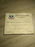 Livre 39ème Régiment D'artillerie Armée Du Rhin Coblence 1928 - Francés