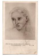CPA - JEUNE FEMME - Dessin (PUVIS DE CHAVANNES) - Malerei & Gemälde