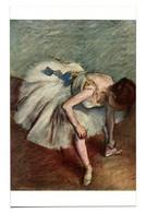 CPA - DANSEUSE NOUANT SON BRODEQUIN (DEGAS) - Malerei & Gemälde