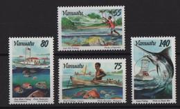 Vanuatu - N°995 à 998 - Faune - Peche - Cote 10.50€ - * Neuf Avec Trace De Charniere - Vanuatu (1980-...)