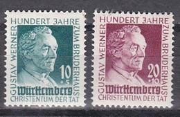 Men_ Franz. Zone Württemberg - Mi.Nr. 47 - 48 - Postfrisch MNH - French Zone