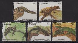 Vanuatu - N°972 à 976 - Faune -Lezards - Cote 14€ - * Neuf Avec Trace De Charniere - Vanuatu (1980-...)