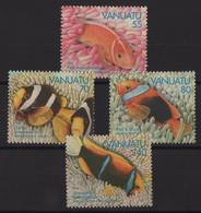 Vanuatu - N°959 à 962 - Faune - Poissons - Cote 10.50€ - * Neuf Avec Trace De Charniere - Vanuatu (1980-...)