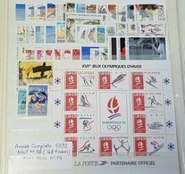 Année Complète 1992 Neuf ** TTB - Francia