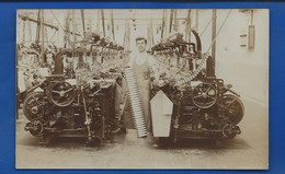 Carte Photo    Machines  A Tisser   A Localiser  Animées    écrite En 1910 - Ansichtskarten