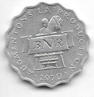 *rwanda 2 Francs 1970  Km 10    Bu /ms65 - Rwanda