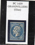 Oise - N° 14A (entamé) Obl PC 1439 Grandvilliers - 1853-1860 Napoleon III
