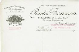 95 - LA FRETTE - Charles Bousson - Cadrans - Peintre Emailleur - Frankreich