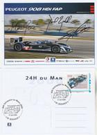 Timbre Personnalisé MonTimbramoi PEUGEOT 908 HDI Vainqueur 24 Heures Du Mans 2009 Sur Carte Postale Maximum ( N° 1 ) - Sellos Personalizados (MonTimbraMoi)